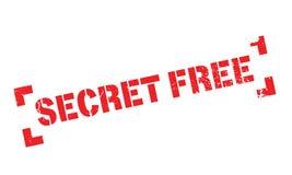 Tampon en caoutchouc gratuit de secret Photos libres de droits