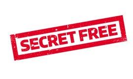 Tampon en caoutchouc gratuit de secret Photo stock