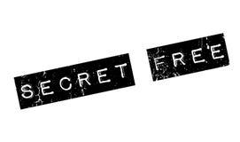 Tampon en caoutchouc gratuit de secret Images libres de droits