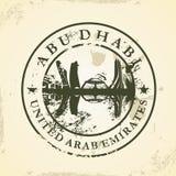 Tampon en caoutchouc grunge avec Abu Dhabi, EAU Photo stock
