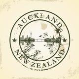Tampon en caoutchouc grunge avec Auckland, Nouvelle-Zélande illustration libre de droits