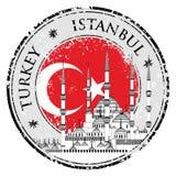 Tampon en caoutchouc grunge avec des mots Istanbul, Turquie, illustration de vecteur Images libres de droits