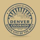 Tampon en caoutchouc grunge avec le nom de Denver, le Colorado illustration stock