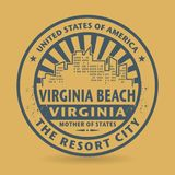 Tampon en caoutchouc grunge avec le nom de Virginia Beach, la Virginie Images stock