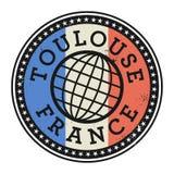 Tampon en caoutchouc grunge avec le texte Toulouse, France illustration de vecteur