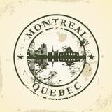 Tampon en caoutchouc grunge avec Montréal, Québec illustration stock
