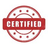 Tampon en caoutchouc grunge certifié Photos stock