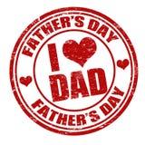 Timbre de jour de pères Photo libre de droits