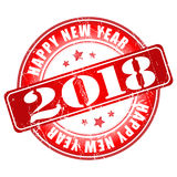 Tampon en caoutchouc grunge de la bonne année 2018 Photographie stock libre de droits