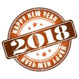 Tampon en caoutchouc grunge de la bonne année 2018 Photos stock
