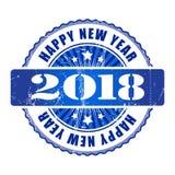 Tampon en caoutchouc grunge de la bonne année 2018 Image stock