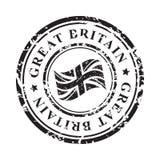 Tampon en caoutchouc grunge de la Grande-Bretagne avec le drapeau britannique, noir d'isolement sur le fond blanc, illustration illustration stock
