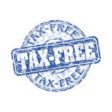 Tampon en caoutchouc grunge exempt d'impôt Images stock