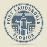Tampon en caoutchouc grunge ou label avec le Fort Lauderdale des textes, la Floride illustration libre de droits