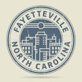 Tampon en caoutchouc grunge ou label avec le texte Fayetteville, Carol du nord illustration de vecteur