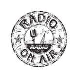 Tampon en caoutchouc grunge par radio Photographie stock
