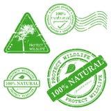 Tampon en caoutchouc grunge vert avec le texte Images libres de droits