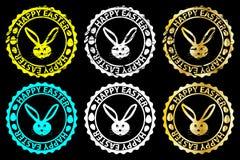 Tampon en caoutchouc heureux de Pâques illustration libre de droits