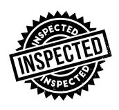 Tampon en caoutchouc inspecté illustration de vecteur