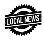 Tampon en caoutchouc local d'actualités illustration libre de droits