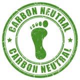 Tampon en caoutchouc neutre d'empreinte de pas de carbone illustration libre de droits