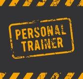 Tampon en caoutchouc personnel d'entraîneur Photo libre de droits