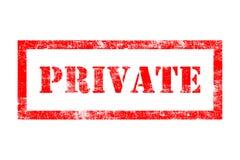 Tampon en caoutchouc privé Photos stock