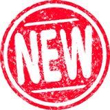 Tampon en caoutchouc rond grunge rouge nouveau pour votre conception illustration libre de droits