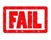 Tampon en caoutchouc rouge d'échouer sur le fond blanc signe de timbre d'échouer tex illustration de vecteur