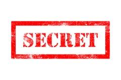 Tampon en caoutchouc secret Image libre de droits
