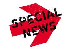 Tampon en caoutchouc spécial d'actualités illustration de vecteur