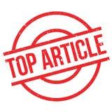 Tampon en caoutchouc supérieur d'article Image libre de droits