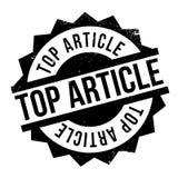 Tampon en caoutchouc supérieur d'article Photographie stock libre de droits