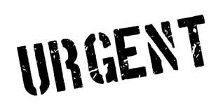 Tampon en caoutchouc urgent Photos stock