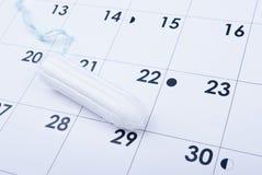 Tampong på kalender Royaltyfri Fotografi