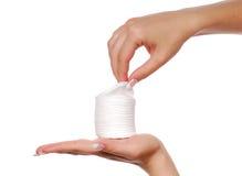 Tampons de coton. Image libre de droits