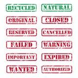 Tampons en caoutchouc Image stock