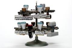 Tampons en caoutchouc de bureau de photographie Photos libres de droits