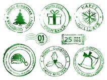 Tampons en caoutchouc de Noël Images libres de droits