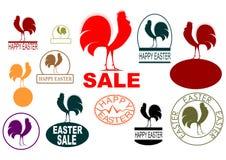 Tampons en caoutchouc de Pâques illustration libre de droits