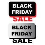 Tampons en caoutchouc grunges noirs de vendredi sur le blanc Photographie stock libre de droits