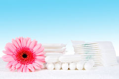 Tampons and pads Stock Photography