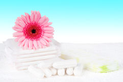 Tampons and pads Stock Image