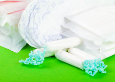Tampons and pads Royalty Free Stock Photography