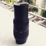 Tamron 70-300mm尼康的远摄镜头 图库摄影