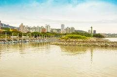 Tamsui District view in Taipei, Taiwan Royalty Free Stock Photo