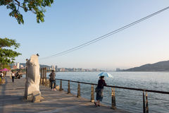 Tamsui scenery with people Stock Photography