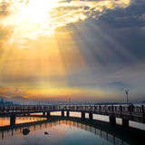 Tamsui Sunset, new Taipei, Taiwan Royalty Free Stock Photography