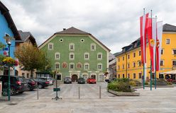 The main square in Tamsweg, Austria stock photos