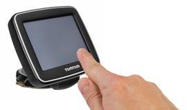 tamtamu GPS samochodowa nawigacja z rękojeścią Palec wskazuje Obraz Stock